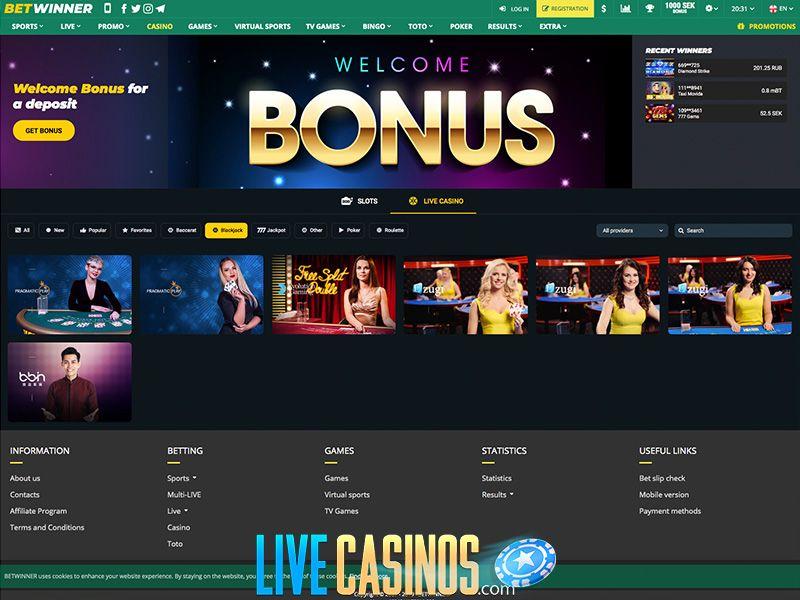 Care sunt cele mai puternice 3 puncte ale Betwinner la casino live